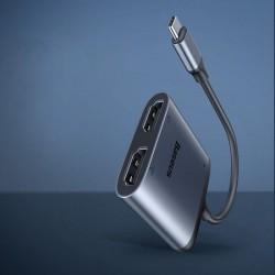 Adaptor Baseus Enjoy HUB , USB-C - 2x HDMI, + port USB-C