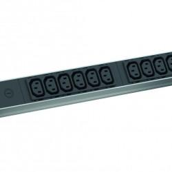 ALU 1HE 12xC13 2,0m IEC C14 Stecker