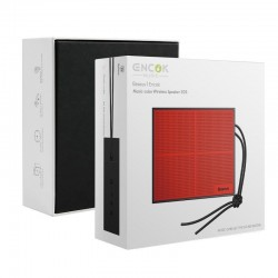Boxa portabila , Baseus Encok E05 , wireless bluetooth , rosu-negru