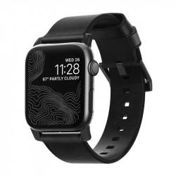 Bratara din piele naturala Nomad , negru- Apple watch Seria 5 si versiunile anterioare, 44/42 mm