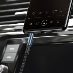 Cablu auxiliar Joyroom stereo AUX 3,5 mm mini jack 1.5 m albastru (SY-10A1)