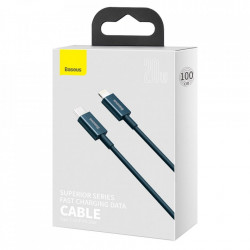 Cablu Baseus Superior USB Type C - Lightning fast charging data cable Power Delivery 20 W 1 m blue (CATLYS-A01)