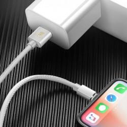Cablu de date Dux Ducis K-Max , Usb la Lightning, 5V , 2A , 1M , alb