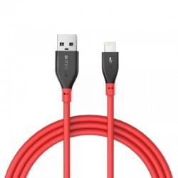 Cablu de date Lightning BlitzWolf BW-MF11 0.3m rosu