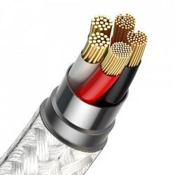 Cablu magnetic USB - USB-C Baseus Zinc 5A 1m (alb)