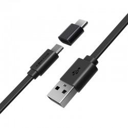 Cablu micro USB + adaptor USB-C BlitzWolf BW-MT2 2A 0,5m