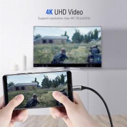 Cablu USB-C la HDMI UGREEN 4K UHD 1,5m (negru)