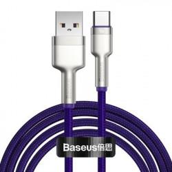 Cablu USB tip C Baseus Cafule Series Metal Data USB - 40 W (10 V / 4 A) SCP (Protocol Huawei SuperCharge) 2 m violet