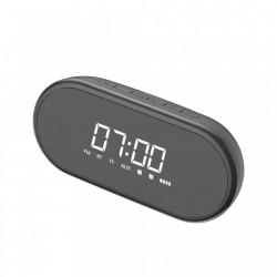 Ceas desteptator cu functie FM Radio, Boxa bluetooth, lampa LED, oglinda, Baseus Encok E09 , negru