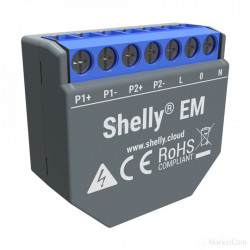 Contor de energie monofazat Shelly EM cu control al contactorului