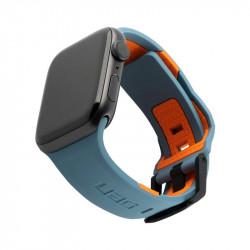 Curea silicon UAG Civilian Strap Apple Watch 42/44mm slate/orange
