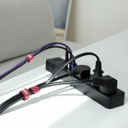 Curea Velcro pentru organizarea cablurilor , Baseus , 1m , rosu