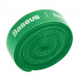 Curea Velcro pentru organizarea cablurilor , Baseus , 1m , verde
