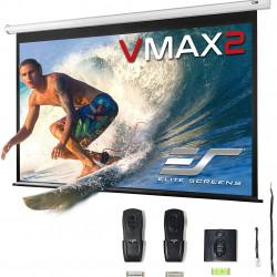 Ecran proiectie electric, perete/tavan, 186 x 104.6 cm, EliteScreens VMAX84XWH2, Format 16:9, Trigger 12v
