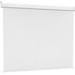 Ecran proiectie electric, perete/tavan, 240 x 240 cm, Multibrackets 1738, carcasa alba, fara bordura, Format 1:1