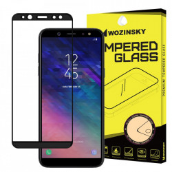Folie protectie Wozinsky Full Glue Super Tough Screen Protector Full Coveraged with Frame Case Friendly pentru Samsung Galaxy A6 2018 A600 black