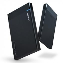 "Hard disk extern Ugreen Carcasa SSD HDD SATA 2,5 ""USB 3.2 Gen 1 (5 Gbps) Cablu USB Type C + 0,5 m negru (US221 50743)"