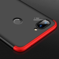 Husa 360° Matte Full Protection Gema Mixt pentru Xiaomi Mi 8 Lite , negru-rosu