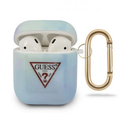 Husa AirPodsGuess GUACA2TPUMCGC02 cover albastru / albastru Tie & Dye Collection Guess / GUE000845