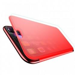 Husa Book, Baseus Touchable, TPU gel + sticla securizata, pentru iPhone Xs / X, rosu