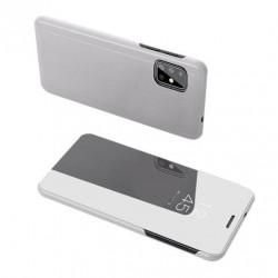 Husa Puky Clear View pentru Samsung Galaxy A71 silver