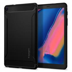Husa Samsung Galaxy Tab A 8.0 2019 T290/T295 Spigen Rugged Armor Cu Suport Stylus Pen - Negru