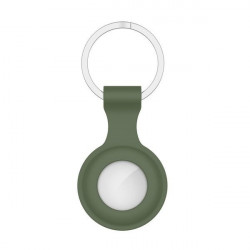 Husa TECH Protect tip breloc din silicon pentru Apple AirTag dark green