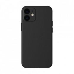 Husa telefon Baseus Liquid Silica Gel Case Flexible iPhone 12 , Black (WIAPIPH61N-YT01)