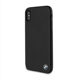 Husa telefon din piele naturala , tip bumper , Bmw pentru Apple iPhone X/Xs, neagra