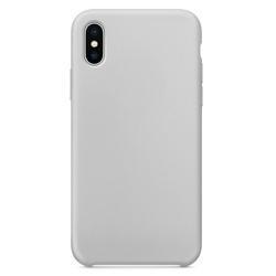 Husa telefon din silicon flexibil cu interior din material impotriva zgarieturilor , Gema Mixt pentru iPhone X/Xs , gri
