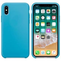 Husa telefon din silicon flexibil cu interior din material impotriva zgarieturilor , Gema Mixt pentru iPhone X/Xs , bleu