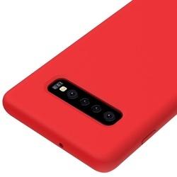 Husa telefon din silicon flexibil cu interior din material microfibra impotriva zgarieturilor , Gema Mixt pentru Samsung Galaxy S10 Plus , rosu
