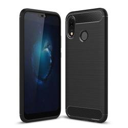 Husa telefon TPU model carbon , Gema Mixt pentru Huawei P20 lite , neagra