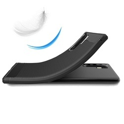 Husa telefon TPU model carbon , Gema Mixt pentru Huawei P30 Pro , negru