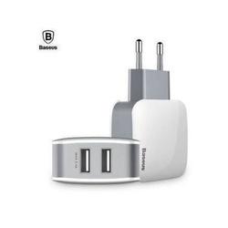 Incarcator de retea cu doua iesiri USB adaptor priza 2.4A Baseus Letour