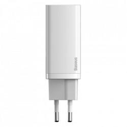 Incarcator priza, rapid Baseus GaN2 Lite 65W USB / USB Typ C Quick Charge 3.0 Power Delivery (gallium nitride) white