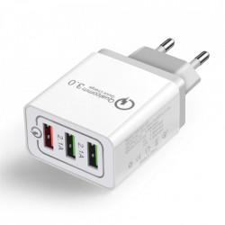Incarcator priza Wozinsky Quick Charge QC 3.0 3x USB 30W white (WWC-01)