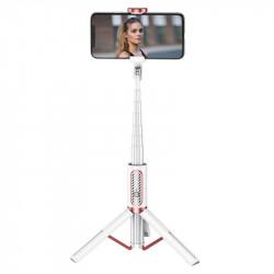 Joyroom Phantom Series Selfie stick,trepied cu telecomanda bluetooth, alb(JR-Oth-AB202)