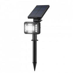 Lampa de exterior cu panou solar , Blitzwolf LED BW-OLT2 cu senzor de noapte, 1800mAh