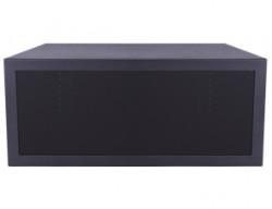 Media Box cu incuietoare pt. stand podea Multibrackets 7648, pt. depozitare sigura a echipamentelor electronice, negru