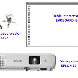 Pachet interactiv EVOBOARD IB85 + EPSON EB-E01 + EATV2