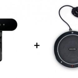 Pachet Videoconferinta cu Camera web Logitech Brio 4k + Eacome SV11B Speakerphone, USB, Bluetooth