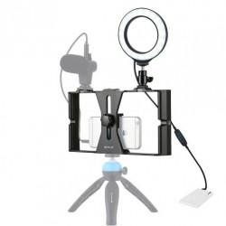 Platforma Vlog cu lampa LED Puluz pentru smartphone-uri