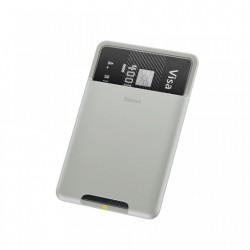 Portcard din silicon aplicabil pe telefon,Baseus , gri deschis (ACKD-B0G)