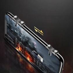 Set 2 bumper smartphone cu butoane pentru gaming, Baseus, negru