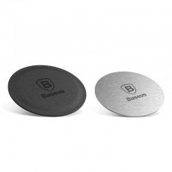 Set 2 placute metalice pentru suport auto magnetic, Baseus Magnet Iron Suit, argintiu