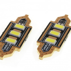 Set 2 x LED bulbs STANDARD Festoon C5W 3xSMD 5730 12V 39mm