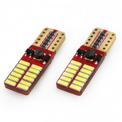Set 2 x LED CANBUS 24SMD 4014 T10e (W5W) White 12V/24V