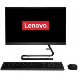 "Sistem PC All-in-One Lenovo IdeaCentre A340-22IWL cu procesor Intel® Core™ i3-8145U pana la 3.90 GHz, Whiskey Lake, 21.5"", Full HD, IPS, 4GB, 1TB, DVD-RW, Intel® UHD Graphics 620, Free DOS, Black"