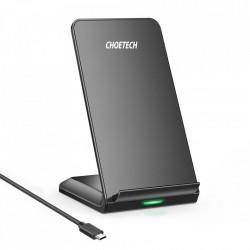 Stand cu incarcare wireless Choetech Qi 10W + cablu USB - micro USB black (T524-S)